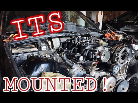 ENGINE AND TRANSMISSION MOUNTED! BUDGET E36 5 3 V8 LS SWAP PROGRESS