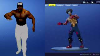 Fortnite DANCES - REAL LIFE CHALLENGE! (BUFF DUDE STYLE) | Kali Muscle