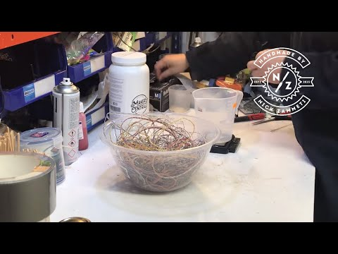 woodturning - a bowl using just epoxy resin & wire!