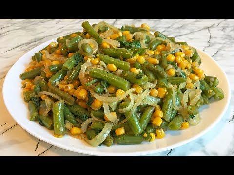 Теплый Салат со Стручковой Фасолью и Кукурузой / Warm Salad With String Beans And Corn