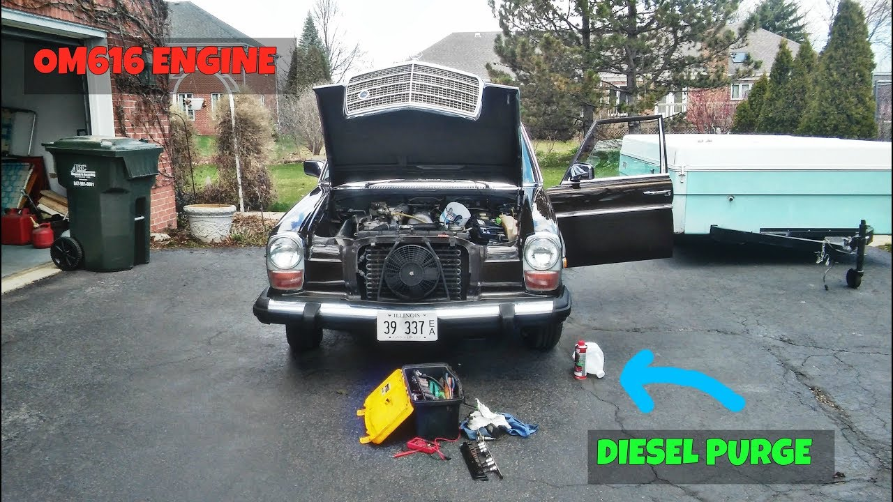 medium resolution of 1975 mercedes w115 240d diesel purge and fuel filters replacement