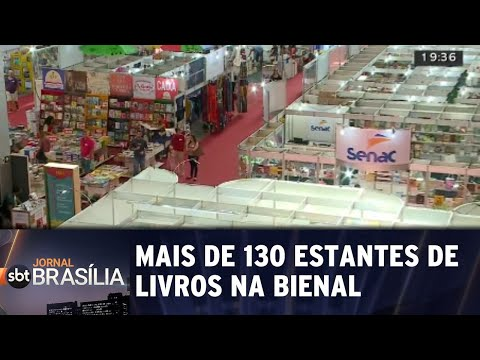 Mais de 130 estantes de livros na Bienal   Jornal SBT Brasília 24/08/2018