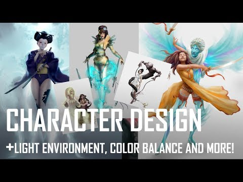 Critique Hour! Character Design Challenge! Light environment, balancing colors and more!
