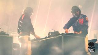Justice live at Mad Cool Madrid on July 12, 2018