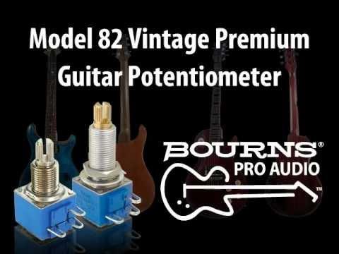 Bourns® Model 82 Vintage Premium Guitar Potentiometer