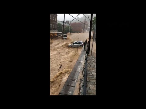 Raw: Video Shows Car Swept in Md. Flood