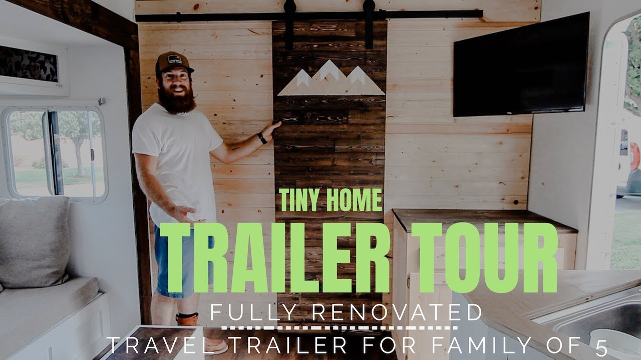 Bunkhouse Trailer Renovation! Custom woodwork  SOLD!