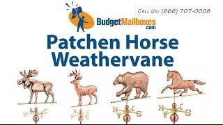 Budgetmailboxes.com | Good Directions 623p Patchen Horse Weathervane - Polished Copper