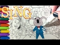 Sing Movie | Coloring Page with ALL the Characters in Reverse!!