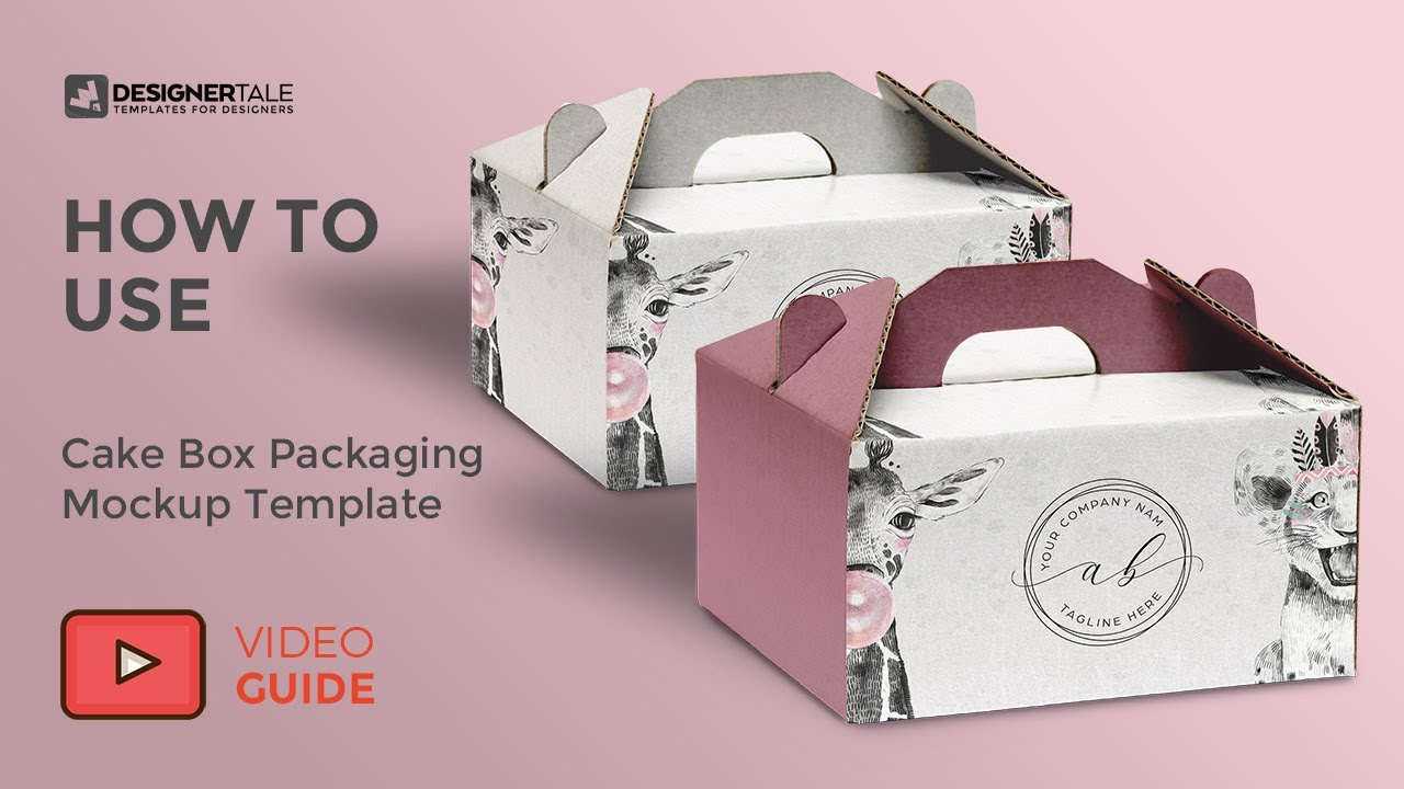 Add design via smart object (on top, front and side as shown in preview images) you can change background. How To Use Cake Box Packaging Mockup Youtube