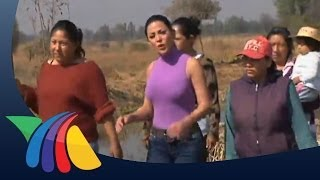 Mujeres construyen chinampas