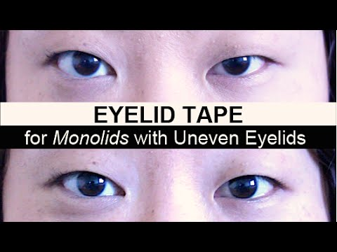 Eyelid Tape for Monolids with Uneven and Droopy Eyelids