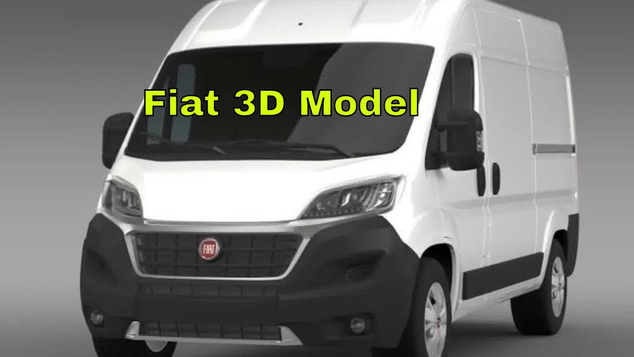 3d model of fiat ducato van l2h2 2014 review youtube. Black Bedroom Furniture Sets. Home Design Ideas