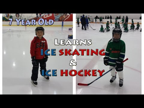 7 Year Old Learns Ice Skating & Ice Hockey (The FIRST SHIFT & SECOND SHIFT) Documentary