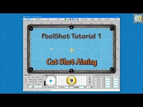 Cut Shot Aiming - PoolShot Free Version Tutorial #1 - Pool & Billiard Workout Exercise