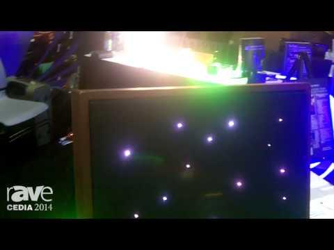 CEDIA 2014: Fiberoptics Makes Custom or Pre-Fab Star Ceiling Systems, Plus Large Core Fiber Lighting