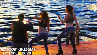 Walking Moscow (Russia): Central Park/ beautiful Russian Girls/ many people/October 2020/NO COMMENTS
