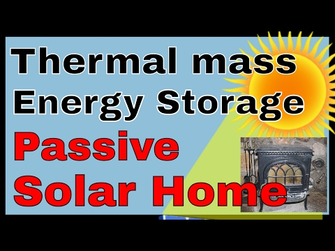 Thermal mass, thermal bank, underground thermal energy storage, passive solar home