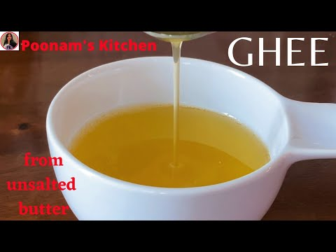 Organic Desi Ghee/ Clarified Butter| Poonam's Kitchen