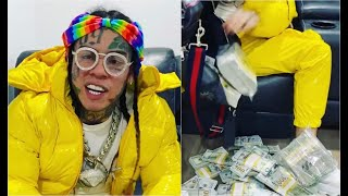 6ix9ine Shows How Much $$ He Made On House Arrest Flexes Ankle Monitor