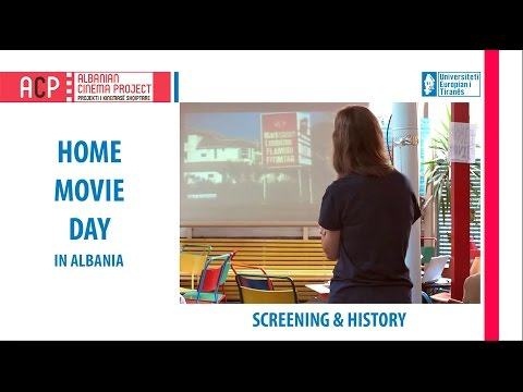 The first Home Movie Day in Albania