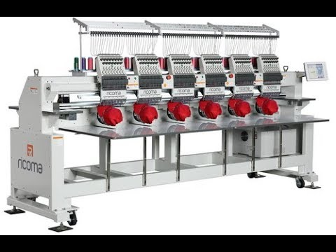 видео: Шестиголовочная вышивальная машина Ricoma CHT2 1506