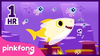 Halloween Sharks 1hour Non-Stop | +Compilation | Baby Shark Non-Stop | Pinkfong Halloween Songs