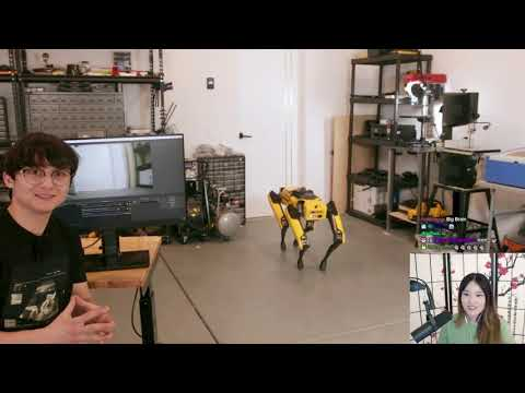 Plushys Reacts To Teaching a Robot Dog to Pee Beer By Michael Reeves