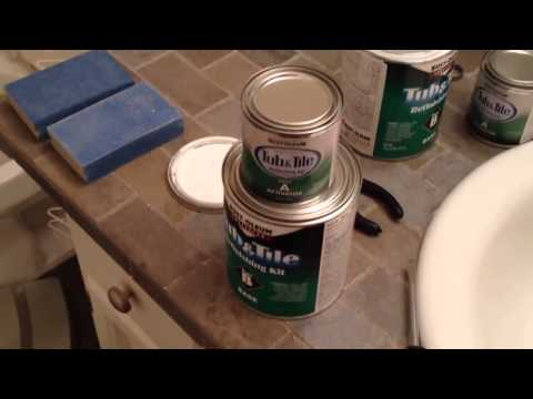 How To Paint Bathtub And Tile With Rust Oleum Tub And Tile Step   YouTube