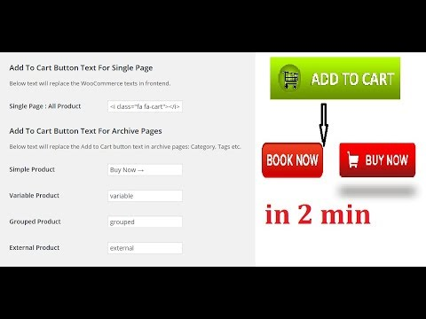 How to change Add to cart button