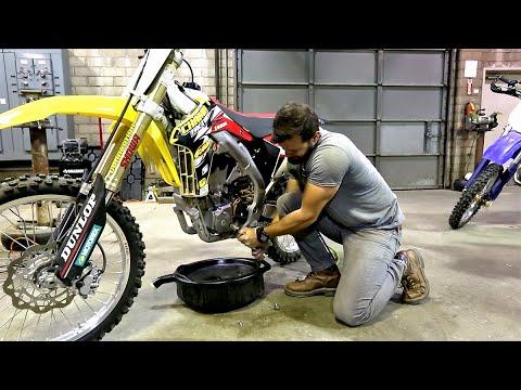 how to change oil on 4 stroke dirt bike suzuki rmz 450 part 1 rh youtube com 2014 RMZ 250 2014 RMZ 250