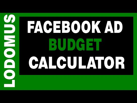 Facebook Ad Budget Calculator With Examples