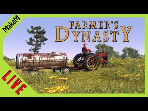 Farmer's Dynasty Gameplay LIVE [HUN] #9 - Földmunka ezerrel!