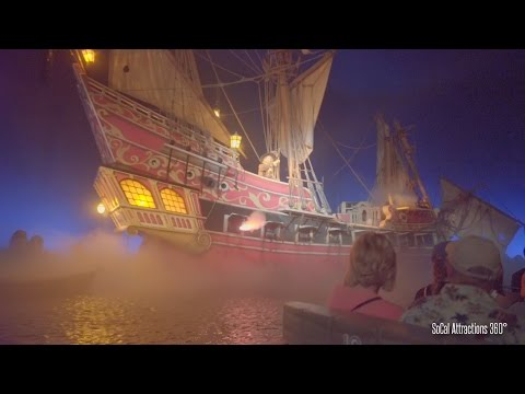 [4K] Pirates of the Caribbean Full Ride (Excellent Low Light) Disneyland 2015