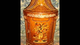 French Louis Xv Style Bar Cabinet Commode Bombe Louis Xvi