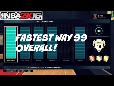 NBA 2K16| Fastest way to 99 Overall ! | Myplayer | Mycareer - Prettyboyfredo