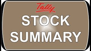 How to check Stock in Tally ERP 9 | Stock Summary in Tally ERP 9 | nict computer