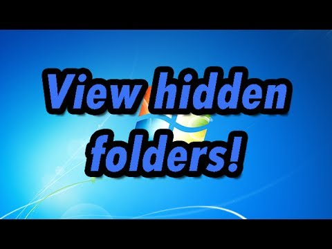How To View Hidden Folders, Files, And Drives (Windows 7)