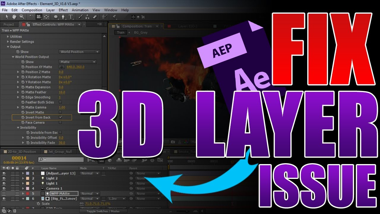 The 3d layer Disappears in After Effects   Quick Fix