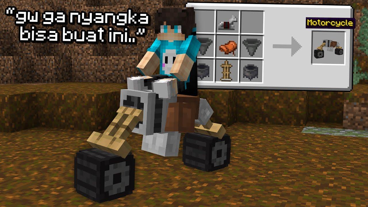 Aku Coba Untuk Buat Motor di Minecraft, dan Ini Hasilnya ..