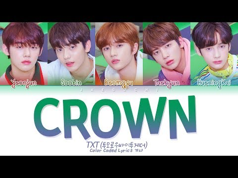 TXT - CROWN (어느날 머리에서 뿔이 자랐다) (Color Coded Lyrics Eng/Rom/Han/가사)