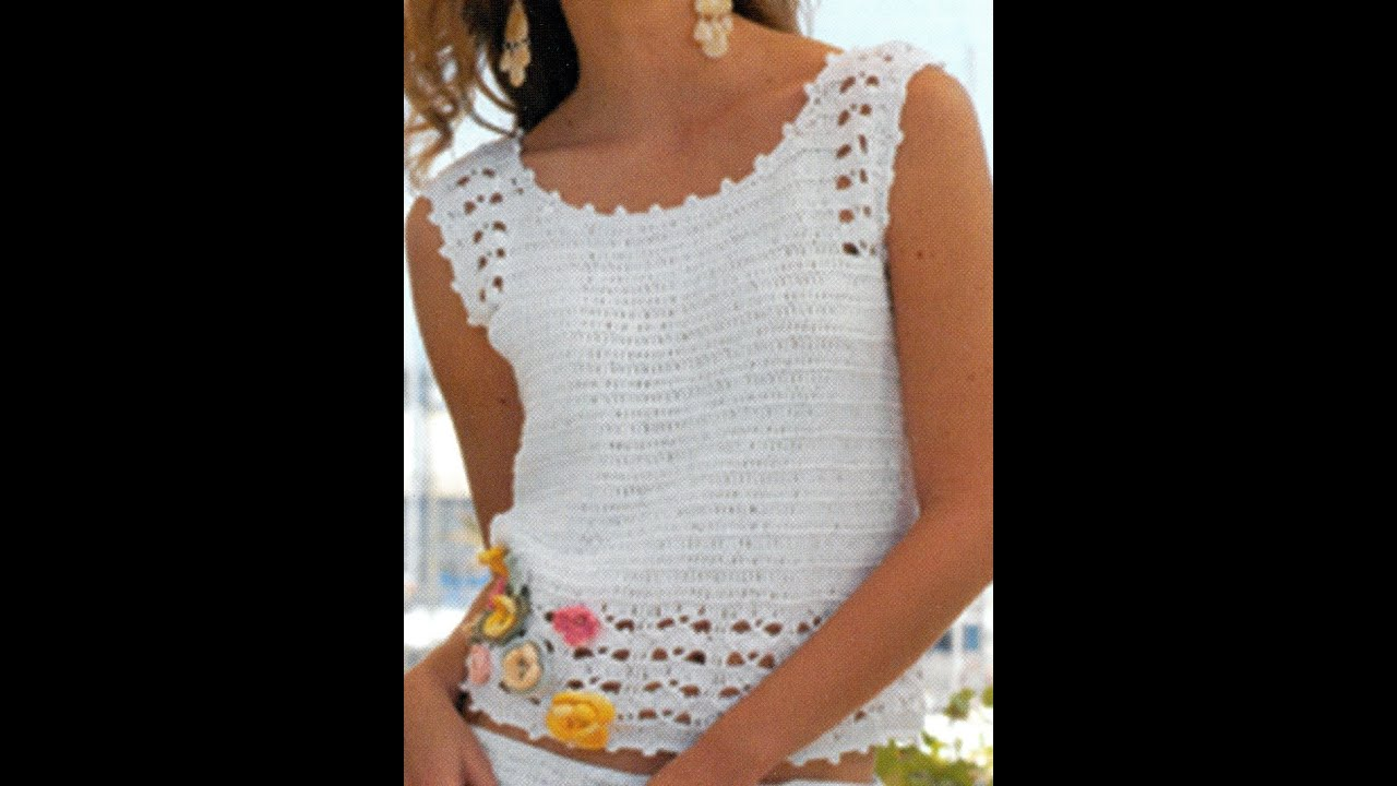 Blusa y Falda a crochet - YouTube