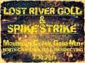 LOST RIVER GOLD & SPIKE STRIKE PROSPECTING THE MOUNTAIN CREEK GOLD MINE TESTING THE MINI-SLUICE