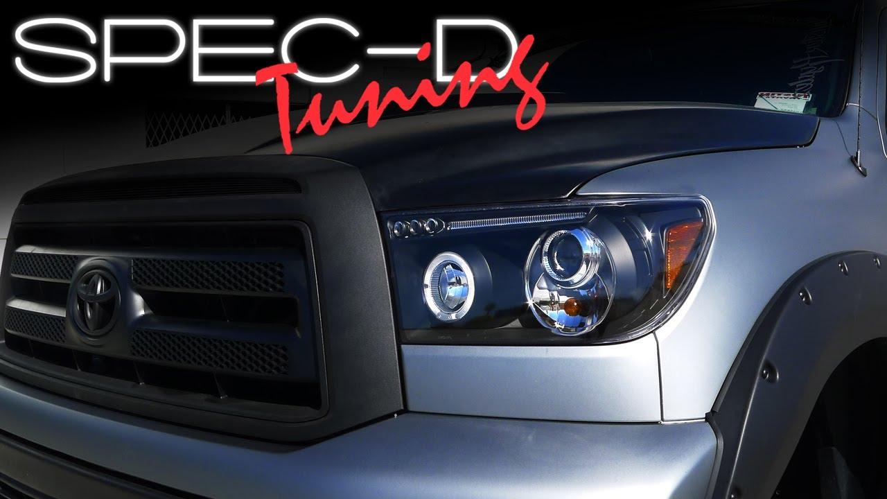 hight resolution of specdtuning installation video 2007 2013 toyota tundra led projector headlights youtube