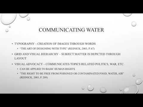 The Abstractions and Physicality of Water in Graphic Design