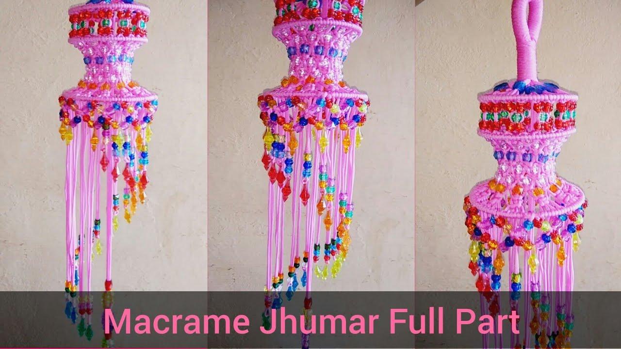 Diy macrame jhumar macrame chandelier diy macrame jhumar macrame chandelier how to make macrame jhumar chandelier arubaitofo Image collections
