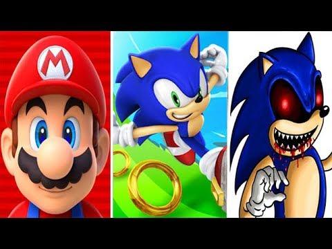 Super Mario Run vs Sonic Dash vs SONIC EXE