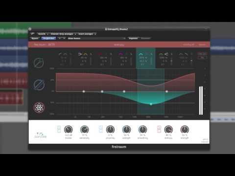 sonible frei:raum: proximity EQ & entropy EQ on drums