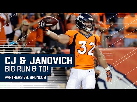CJ Anderson Big Run & Andy Janovich 1st Career Carry Results in TD!   Panthers vs. Broncos   NFL