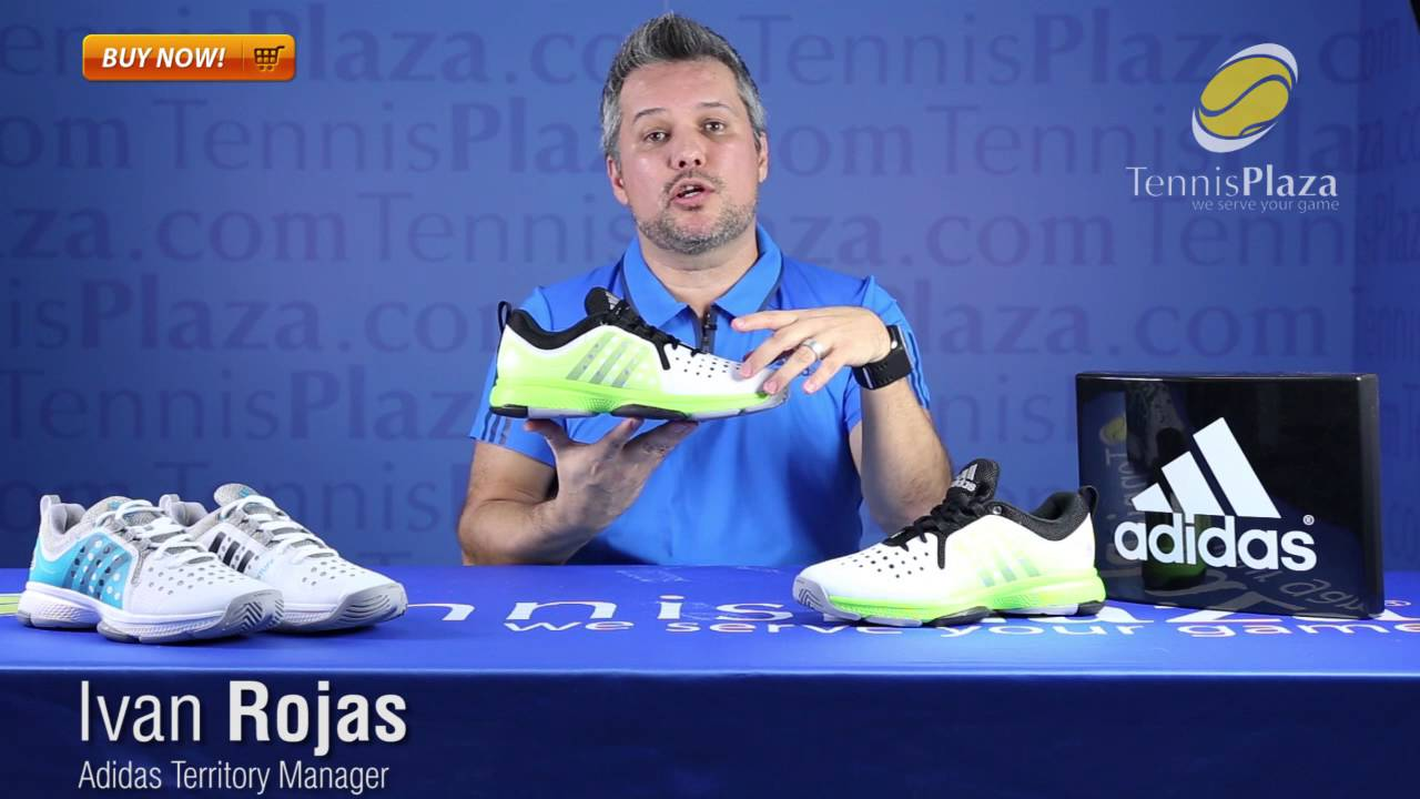 separation shoes 2d8e7 4fc8c Adidas Barricade Classic Bounce Tennis Shoes Review  Tennis Plaza - YouTube